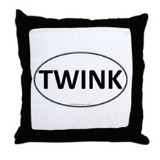 TWINK Euro Oval Throw Pillow