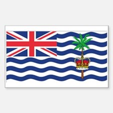 British Indian Ocean Territor Rectangle Decal