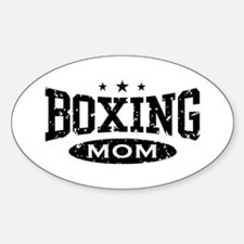 Boxing Mom Oval Decal