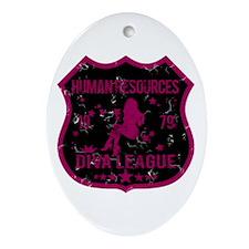 Human Resources Diva League Oval Ornament