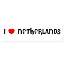 I LOVE NETHERLANDS Bumper Bumper Sticker