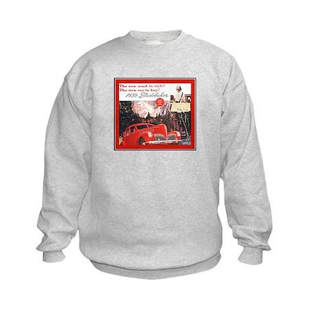 """1939 Studebaker Ad"" Kids Sweatshirt"