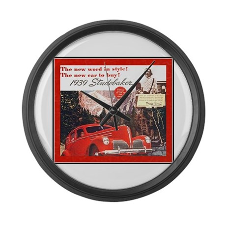 """1939 Studebaker Ad"" Large Wall Clock"