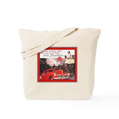"""1939 Studebaker Ad"" Tote Bag"