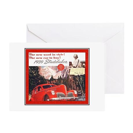 """1939 Studebaker Ad"" Greeting Card"