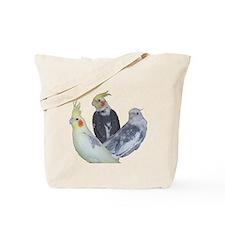 Pied Cockatiel Mutation Tote Bag