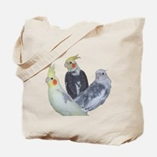 Pied Cockatiel Mutation Tote Bag