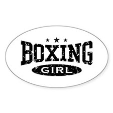 Boxing Girl Oval Decal