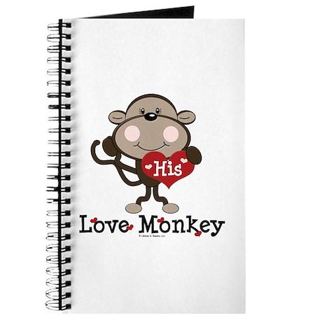 His Love Monkey Valentine Journal