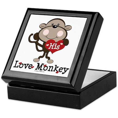 His Love Monkey Valentine Keepsake Box