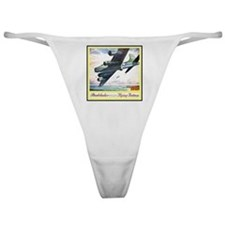 """""""Flying Fortress Engines Ad"""" Classic Thong"""