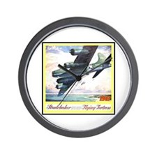 """Flying Fortress Engines Ad"" Wall Clock"