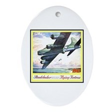 """""""Flying Fortress Engines Ad"""" Oval Ornament"""