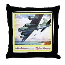 """""""Flying Fortress Engines Ad"""" Throw Pillow"""