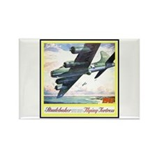 """Flying Fortress Engines Ad"" Rectangle Magnet"