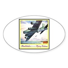 """Flying Fortress Engines Ad"" Oval Decal"