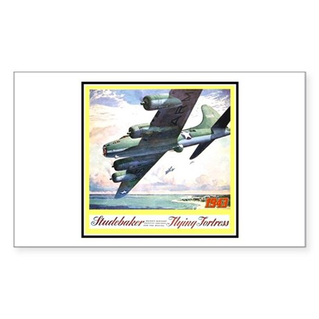 """""""Flying Fortress Engines Ad"""" Rectangle Sticker"""