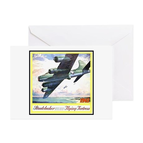 """""""Flying Fortress Engines Ad"""" Greeting Cards (Pk of"""