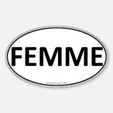 FEMME Euro Oval Oval Decal