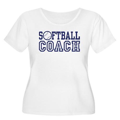 Softball Coach Women's Plus Size Scoop Neck T-Shir