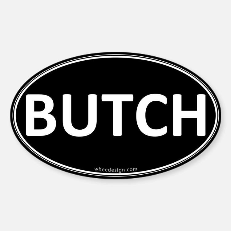 BUTCH Black Euro Oval Oval Decal
