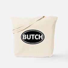 BUTCH Black Euro Oval Tote Bag