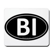 BI Black Euro Oval Mousepad