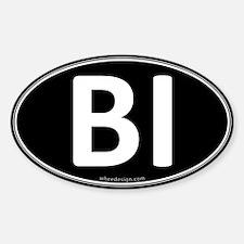 BI Black Euro Oval Oval Decal