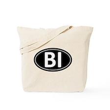 BI Black Euro Oval Tote Bag