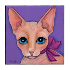 Sphinx Hairless Cat Tile Coaster