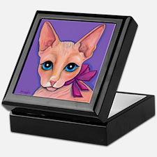 Sphinx Hairless Cat Keepsake Box