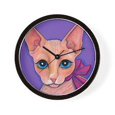 Sphinx Hairless Cat Wall Clock