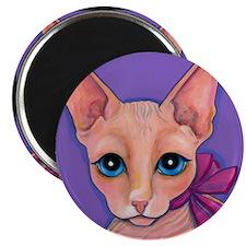 "Sphinx Hairless Cat 2.25"" Magnet (10 pack)"