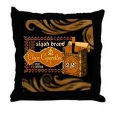 Siyah Clove Cigs Throw Pillow