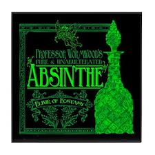Prof. Wormwood Absinthe Tile Coaster