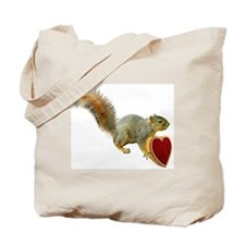 Squirrel with Candy Box Tote Bag