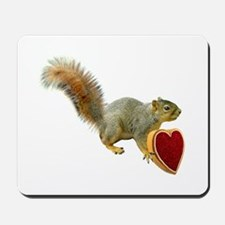 Squirrel with Candy Box Mousepad
