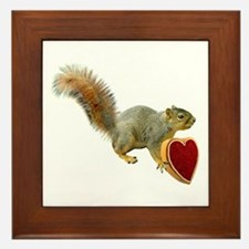 Squirrel with Candy Box Framed Tile