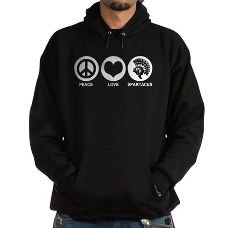 Peace Love Spartacus Hoodie (dark)