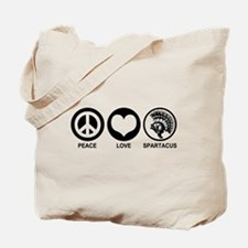 Peace Love Spartacus Tote Bag