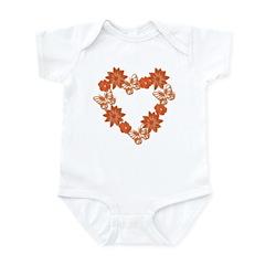 Heart Wreath Infant Bodysuit