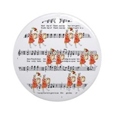 Twelfth Day of Christmas Ornament (Round)