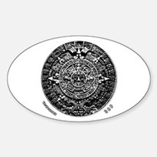 12-21-2012 Mayan Calendar Oval Decal