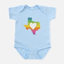 Texas Rainbow Heart Body Suit