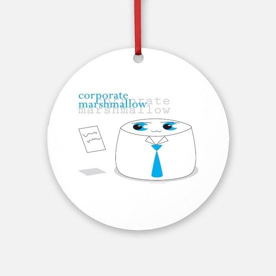 Cute Corporate Anime Marshmal Ornament (Round)