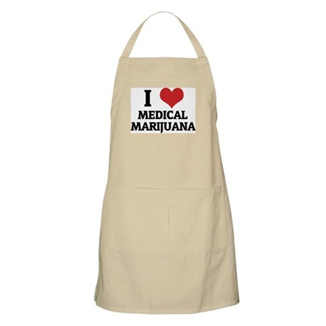 I Love Medical Marijuana BBQ Apron