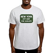 """New York City Limits"" Ash Grey T-Shirt"