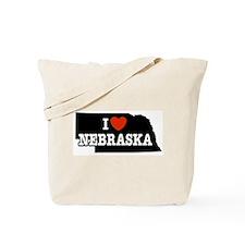 I Love Nebraska Tote Bag