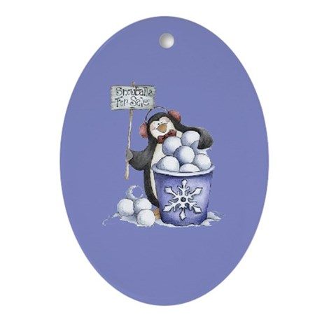 Snowballs for Sale Oval Ornament