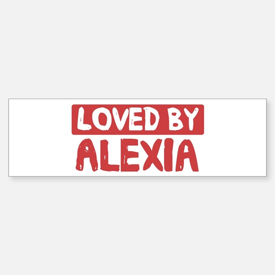 Loved by Alexia Bumper Car Car Sticker